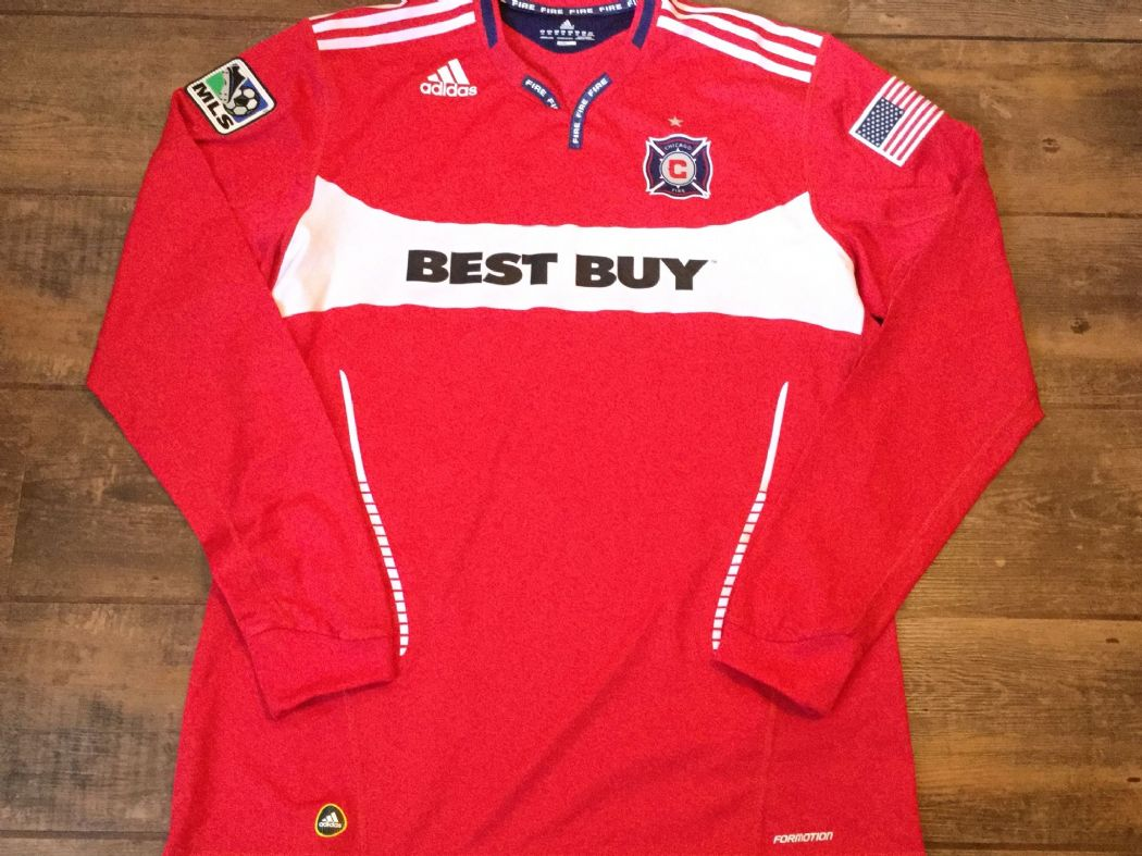 newest 70887 5949a 2010 Chicago Fire L/s Player Issue Formation Football Shirt Adults XXL 2XL